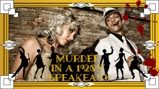 1920s' speakeasy murder mystery party