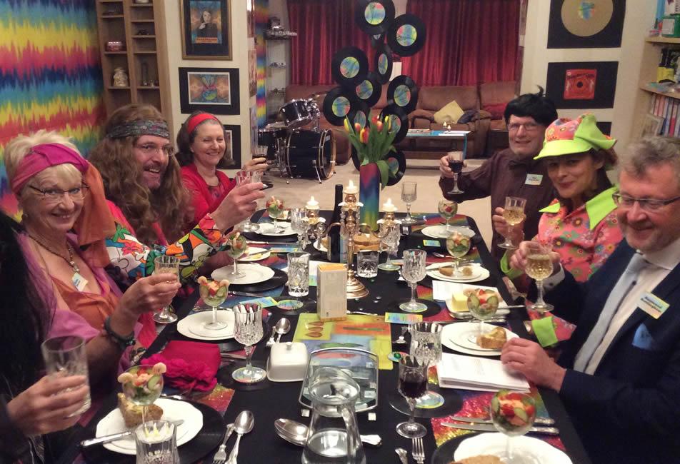 1960s\' murder mystery dinner party