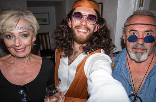 70s murder mystery arty - Storm, Bella and Don