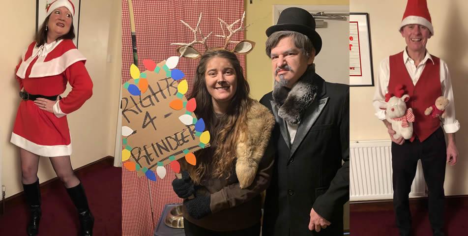 Christmas murder mystery party - customer photos