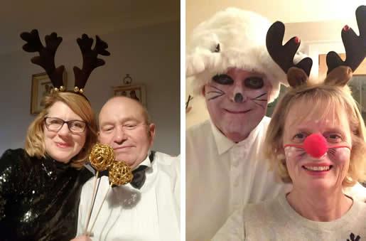 Christmas party photos - Bear and Deeerie Deer