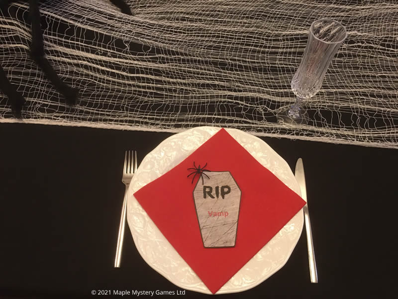 Coffin place setting