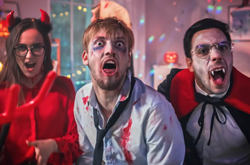 Horror murder mystery party - demon, zombie and vampire