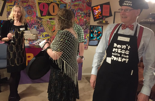 Initial Mingling 90s\' style - Mel Mopper, Goldie Honeykins and Claire Voyantte