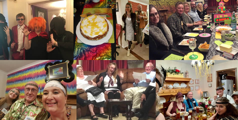 A mix of different murder mystery evenings held in peoples' homes