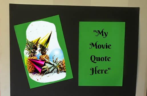 Neon card - use your favourite movie quote