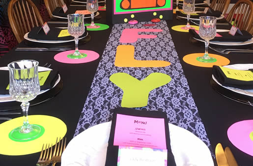 Nineties' tablescape