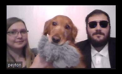 Payton Morals and dog