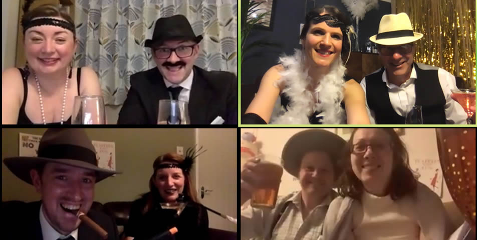 Roaring 20s Zoom party