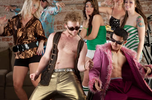 Seventies party - with glam rockers