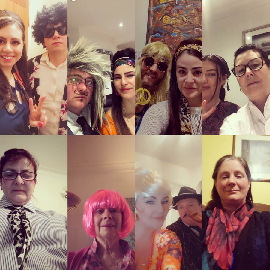 60s costumes: old and young