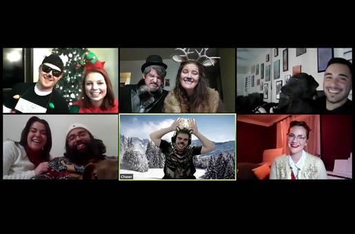 Virtual Christmas murder mystery party via Zoom