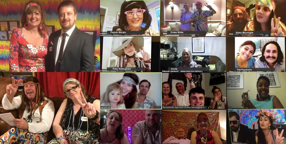 A few of our customer video chat murder mystery parties