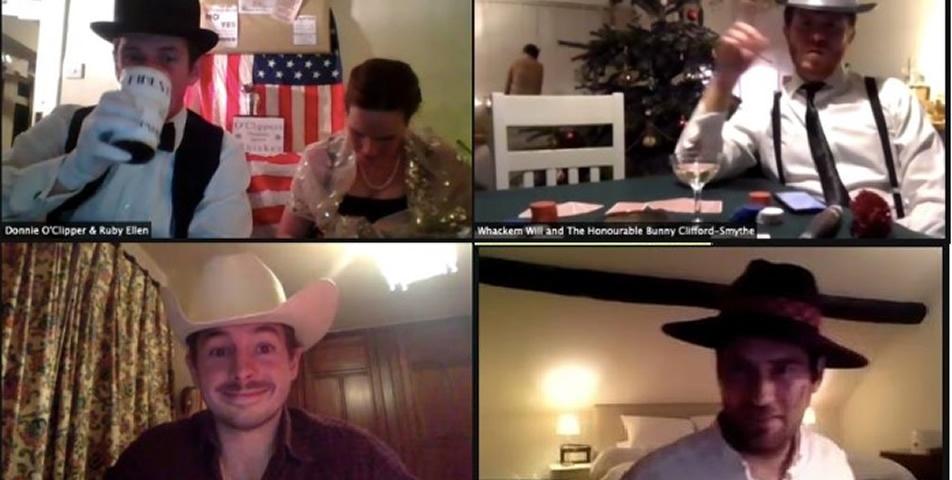 Virtual speakeasy party